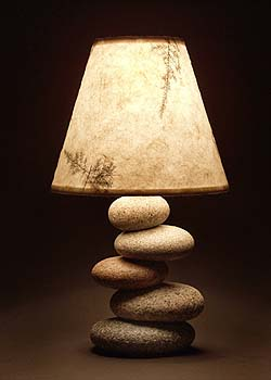 Stone Lamps Amp Candle Holders Timberstone Rustic Arts